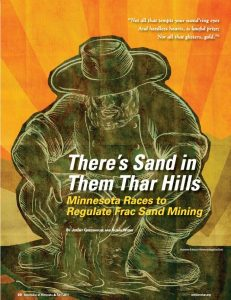 Bench and Bar Magazine Article - MN Races to Regulate Frac Sand Mining